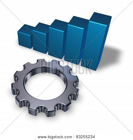 Business Graph And Cogwheel