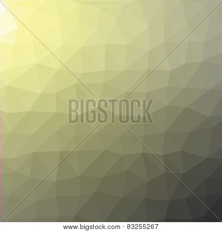 Geometric abstract grey and yellow low-poly paper background.