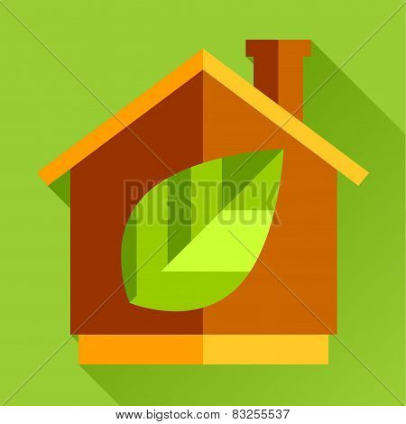 go eco green flat icon