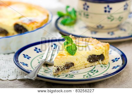 Cottage Cheese Prunes Cake.