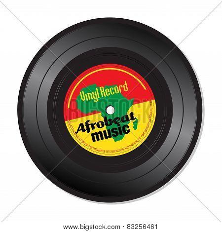 Afrobeat music vinyl record