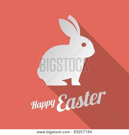 White bunny silhouette