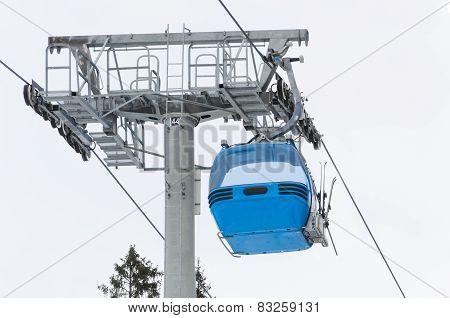 Ski lift cabin in Bansko, Bulgaria