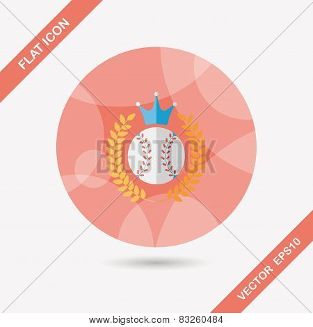 Baseball Champion Flat Icon With Long Shadow,eps10
