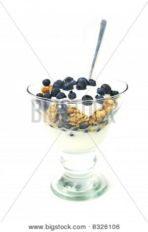 Muesli And Blueberries