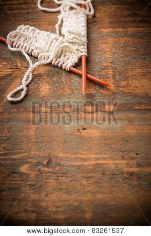 White Knitting Wool