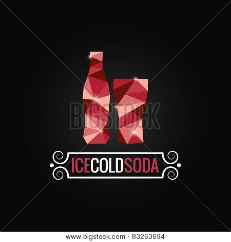 soda bottle poly design background