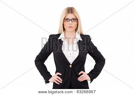 Confident And Successful Businesswoman.