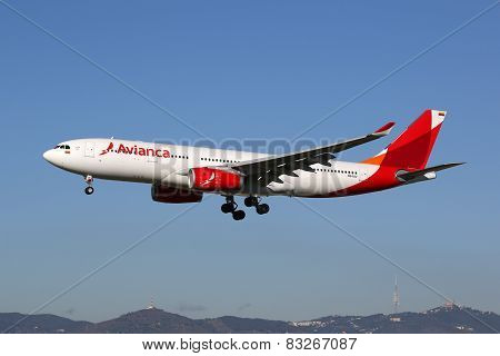 Avianca Airbus A330-200 Airplane