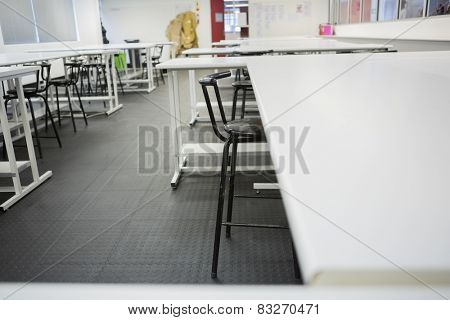 Empty class room in college