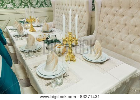 Beautifully Organized Event - Served Banquet Table