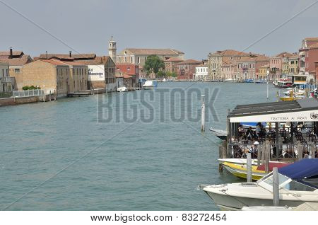 Buildings Over Canal In Murano