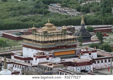 View Of The Buddhist Monastery Samye