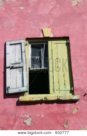 Close-up of Window in Bahamas