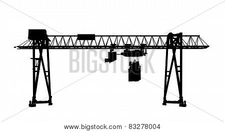 Black Silhouette, Container Bridge Gantry Crane