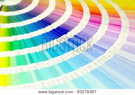Color palette guide for printing industry