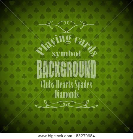Playing, Poker, Cards Symbol Background Sample Text