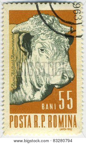 Stamp With Cow