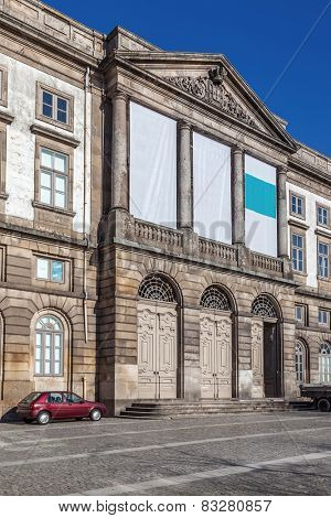 Natural History Museum of Porto University building in Gomes Teixeira Square. Porto, Portugal.