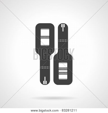 Black vector icon for pregnancy test