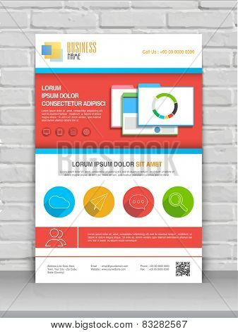 Colorful professional flyer, banner or template for your business.