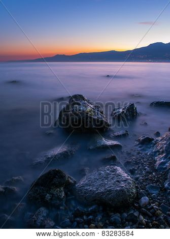 Rocks and blue hour