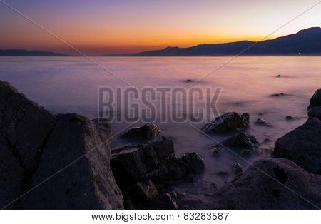 Sea Rocks at blue hour
