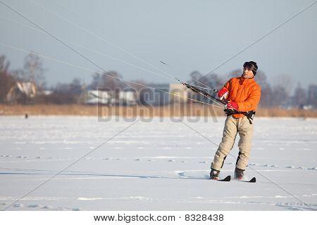 Kite-skiing