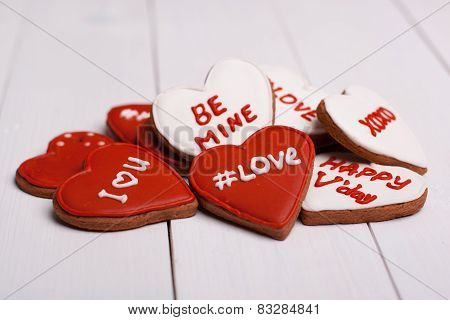 Sweet things for Valentine's Day. Cookies.