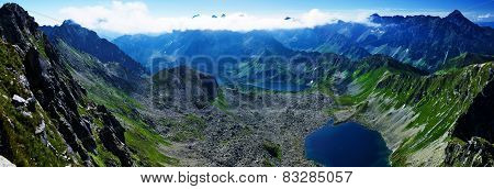 View Of The Lake In The Valley Of The Big Pond In Polish Mountains, Tatras