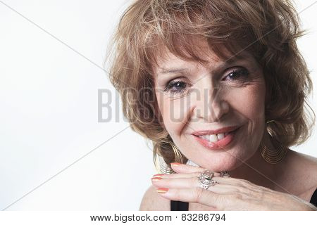 A Studio Portrait Of a Senior Woman
