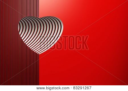 red symbolic valentine heart, 3d render