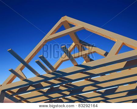 Wooden structure house against the sky.