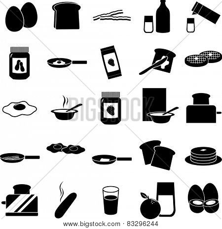 breakfast symbols set