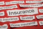 pic of insurance-policy  - Word Insurance On Piece Of Paper Salient Among Other Related Keywords  - JPG