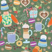 picture of latte  - Vector Enjoy Winter collection - JPG