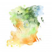 picture of composition  - Abstract hand drawn watercolor background - JPG