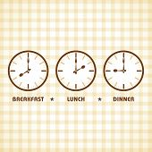 picture of lunch  - Breakfast Lunch and Dinner time stock vector - JPG