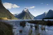 Mitre Peak snow capped, Milford Sound