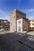 picture of dom  - The Medieval Tower of the Dom Pedro Pitoes Street in the city of Porto - JPG