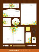 stock photo of letterhead  - Colorful professional corporate identity set with abstract design for your business includes CD Cover - JPG