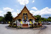 picture of mole  - Old wooden church of Wat Lok Molee Chiang mai Thailand - JPG
