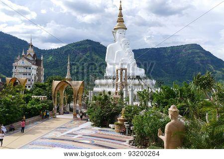 5 White Buddha Statue
