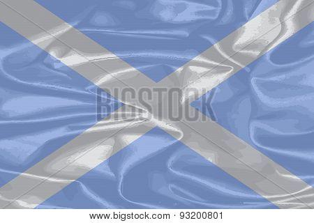 Scotland Silk Flag