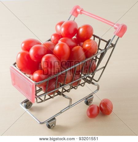 Cherry Tomato On In A Shopping Cart