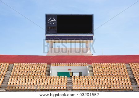 Scoreboard Orange Seat In Stadium