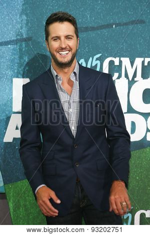 NASHVILLE, TN-JUN 10: Singer Luke Bryan attends the 2015 CMT Music Awards at the Bridgestone Arena on June 10, 2015 in Nashville, Tennessee.