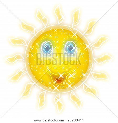 Smiling Sun Glowing Background