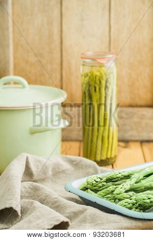 Preserving Green Asparagus