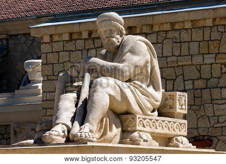 Image Of Sculpture Of The God In Essentuki